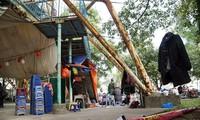 Công viên Tuổi Trẻ hoang tàn. Ảnh: Mạnh Thắng