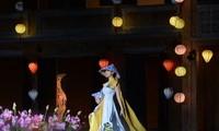 Hình ảnh trong Lễ hội Áo dài Hội An hôm 14/6 mở đầu chuỗi sự kiện tôn vinh áo dài năm 2020