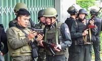 Mai Hoàng chỉ huy một trận tác chiến với tội phạm có vũ trang Ảnh: Nhân vật cung cấp