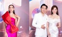 """Siêu mẫu Hoàng Yến diện váy cực nổi bật, Trấn Thành và vợ """"ton-sur-ton"""" tại sự kiện"""