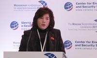 Nữ ngoại giao Triều Tiên Choe Son-hui vừa đột ngột được thăng chức Thứ trưởng Bộ Ngoại giao. Ảnh: Yonhap