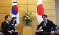 Thủ tướng Nhật Shinzo Abe cho biết Nhật sẵn sàng hỗ trợ để các cuộc gặp thượng đỉnh thành công tốt đẹp. Ảnh: Yonhap
