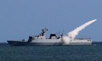 Trung Quốc tập trận bắn đạn thật trên biển Hoa Đông ngày 18/7.