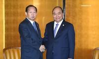 Thủ tướng Nguyễn Xuân Phúc đã tiếp Tổng thư ký Đảng Dân chủ Tự do Nhật Bản, Chủ tịch Liên minh nghị sỹ hữu nghị Nhật-Việt Toshihiro Nikai. Ảnh:VGP