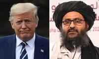 Lần đầu tiên ông Trump điện đàm với lãnh đạo Taliban. Ảnh: New York Times