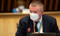Mike Ryan, quan chức cấp cứu hàng đầu của WHO, trong cuộc họp tại Geneve, Thụy Sỹ.