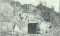 Bản phác thảo vị trí lăng mộ của mẹ Alexander Đại đế.