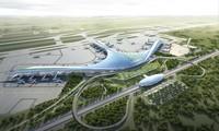 Mô hình thiết kế sân bay Long Thành được lựa chọn theo hình hoa sen cách điệu.