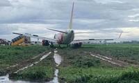 Máy bay hạ cánh trượt khỏi đường bay sân bay Tân Sơn Nhất. Ảnh minh hoạ.