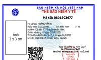 Mẫu thẻ BHYT mới cấp từ ngày 1/4 tới (trên) và với mẫu thẻ BHYT đang lưu hành (dưới).