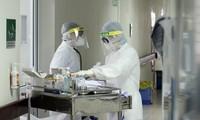 Khu điều trị bệnh nhân mắc COVID-19 tại Bệnh viện Bệnh Nhiệt đới Trung ương. Ảnh: Mạnh Thắng