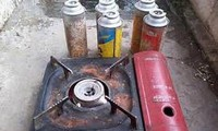 Bình gas mi ni phát nổ tại hội thi nấu ăn đã gây bỏng cho nhiều người. Ảnh minh họa
