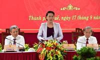 Chủ tịch Quốc hội Nguyễn Thị Kim Ngân phát biểu tại buổi làm việc với tỉnh TT-Huế ngày 17/8/2019
