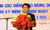 Anh Trần Gia Công, Ủy viên Thường vụ Trung ương Đoàn, Bí thư Tỉnh Đoàn TT-Huế phát động đợt thi đua cao điểm.