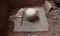 Linga-Yoni liền khối vừa được phát hiện tại khu đền tháp Mỹ Sơn