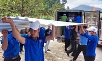 Nhiều hoạt động thiết thực trong chương trình Công trường thanh niên tại huyện miền núi Nam Trà My. ẢNh H. Văn
