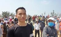 Trần Văn Tròn - người cứu sống 3 em học sinh trong vụ đuối nước.
