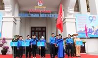 Lê khởi động Tháng Thanh niên năm 2021 của Tuổi trẻ Quảng Nam. Ảnh H. Văn.