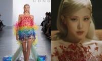"""Rosé tiếp tục mặc váy của Công Trí trong MV """"Gone"""", lần này là một thiết kế 7 sắc cầu vồng"""