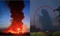 Hình bóng kỳ lạ xuất hiện trên bầu trời ở Indonesia lúc hoàng hôn, cư dân mạng tranh cãi