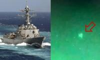 """Rò rỉ hình ảnh """"vật thể bay không xác định"""" lượn trên tàu chiến Mỹ, Lầu Năm Góc xác nhận"""