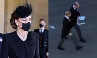 An lòng Hoàng thân Philip: Bộ ba Hoàng gia tái hợp, Kate giúp William và Harry trò chuyện