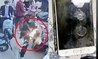 Điện thoại Samsung đang nằm trong túi bốc cháy khiến chủ nhân bị bỏng, cư dân mạng lo lắng