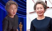 Nữ diễn viên đoạt giải Oscar Youn Yuh Jung đáp trả cực gắt khi bị hỏi thô lỗ về Brad Pitt