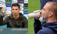 """Sau vụ Cristiano Ronaldo xếp lại chai nước, cầu thủ Anh phải """"ngụy trang"""" lon nước cá nhân"""
