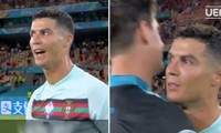 Bị thủ môn Bỉ cản được cú sút phạt, Cristiano Ronaldo nói gì với thủ môn này sau trận đấu?