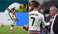 Phải rời EURO 2020, HLV Bồ Đào Nha nói gì về việc Cristiano Ronaldo ném băng đội trưởng?