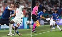 Đội trưởng đội tuyển Ý Giorgio Chiellini có xứng đáng bị thẻ đỏ vì kéo cổ áo Bukayo Saka?