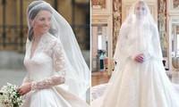 Cháu của Công nương Diana vừa kết hôn, váy cưới lấy cảm hứng từ váy của Kate Middleton?