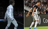 """Kiểu ăn mừng chiến thắng đặc trưng của Cristiano Ronaldo bị """"copy"""" bởi VĐV ở Olympic Tokyo"""