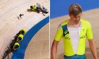 Cú ngã quá nguy hiểm của VĐV ở Olympic Tokyo khi đang đua xe đạp thì gãy ghi-đông xe