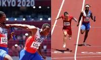 """VĐV Mỹ ở Olympic Tokyo có pha chuyền gậy """"cồng kềnh"""" ra sao mà thất bại khi chạy tiếp sức?"""