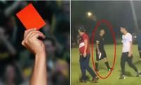 Mỹ: Giơ thẻ đỏ nhưng cầu thủ vẫn không chịu rời sân, vị trọng tài này có hành động gây sốc