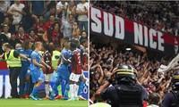 """Cầu thủ và khán giả """"hỗn chiến"""" khiến trận bóng đá giữa 2 CLB Pháp bị hủy giữa chừng"""
