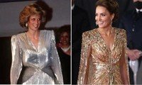 """Lý do Công nương Kate chọn chiếc váy lấp lánh dự ra mắt phim: Như """"lời nhắc"""" đến mẹ chồng?"""