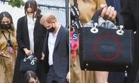 Chi tiết được Dior làm riêng cho túi của Meghan, thể hiện sự kết nối với Hoàng gia Anh