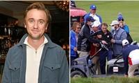 """""""Malfoy"""" Tom Felton lần đầu xuất hiện sau lần ngã gục ở sân golf, ngoại hình khá bơ phờ"""