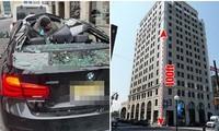 Rơi từ tầng 9 xuống trúng xe ô tô BMW, một người ở Mỹ sống sót kỳ diệu, đứng dậy được ngay