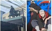 """Khoảnh khắc 2 chiến sĩ cứu trợ miền Trung giữa trời mưa bão: """"Naruto"""" đời thực siêu ngầu!"""
