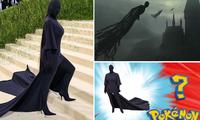 """Đại hội ảnh chế Met Gala 2021: Kim Kardashian mang trend """"bóng đêm"""" phủ sóng mạng xã hội"""