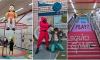 """""""Squid Game"""" ở Hàn Quốc: Ga tàu điện Itaewon biến hình thành """"sân chơi sinh tồn"""" độc đáo"""