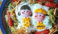 Trứng rán biến thành tác phẩm nghệ thuật