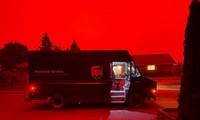 bầu trời đỏ