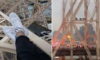 Thanh niên leo lên cột cầu cao chót vót làm loạn giờ tan tầm, hóa ra để quay livestream