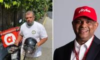 """CEO của AirAsia tập đi xe máy: Khi tỷ phú """"làm thêm"""" công việc ship thức ăn tận nhà"""