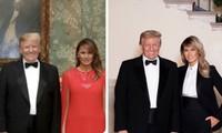 """Ảnh vợ chồng Tổng thống Trump mừng Noel bị cho là ảnh ghép: """"Lạ lùng đến phút cuối cùng""""?"""